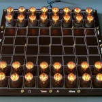 Nixie tube chess set glows without visible wires 1