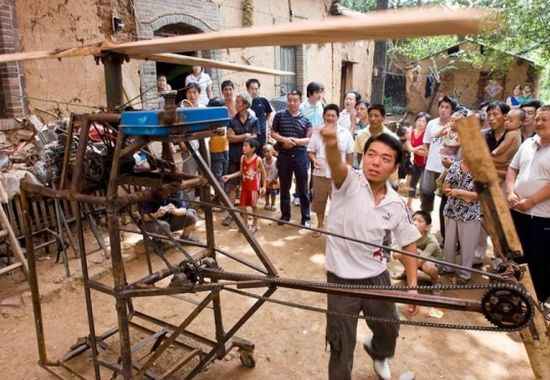 Chinese farmer's DIY chopper