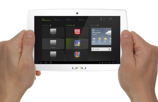 Unu Android tablet