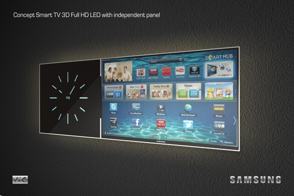 Smart TV with independent panel