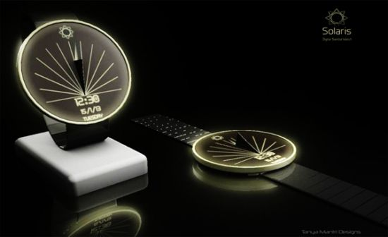 SOLARIS Digital Sundial Watch