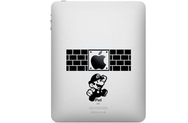 Mario iPad sticker