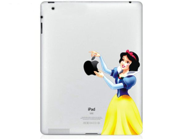 Snow-white iPad sticker