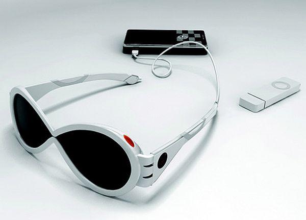 Sun Glasses using solar power