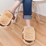Heating slippers USB