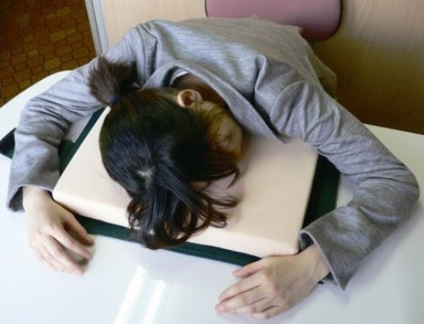 Desk pillow for better sleep at work