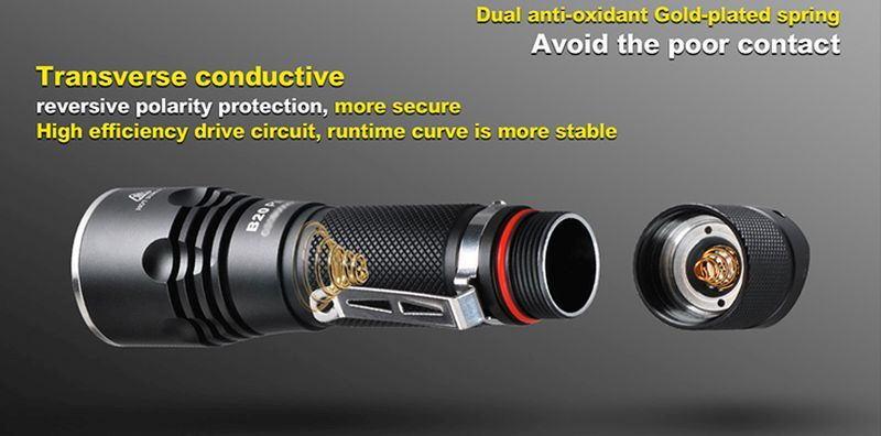 Multi-setting LED flashlight