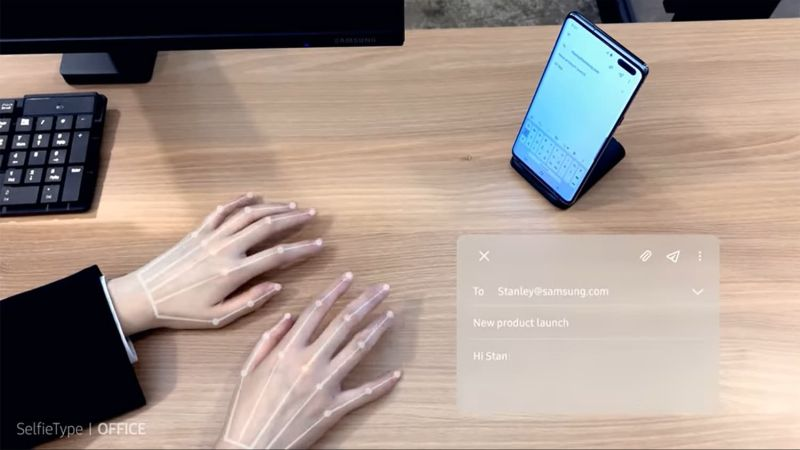 Samsung's latest invisible keyboard