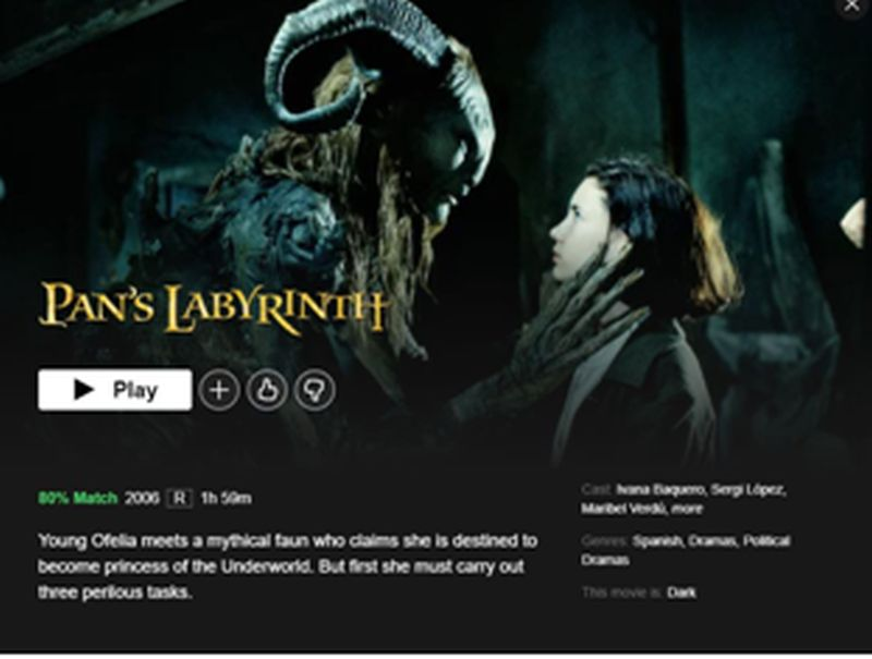 Unblock Pan's Labyrinth on Netflix